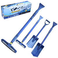 Ice Scraper Multifunctional Retractable Ice And Snow Tool Suit Snow Shovel Scraper Combined Winter De Icing