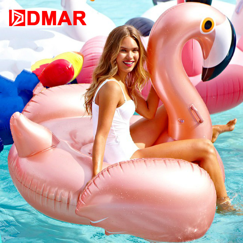 DMAR 150cm 59inch Inflatable Flamingo Rose Gold Giant Pool Float Toys Swimming Ring Circle Sea Mattress Beach Party Unicorn  DMAR 150cm 59inch Inflatable Flamingo Rose Gold Giant Pool Float Toys Swimming Ring Circle Sea Mattress Beach Party Unicorn