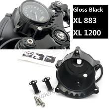 Мотоцикл черный кафе датчик и фар крепление для Harley Sportster гладить XL883 1200R nightster roadster