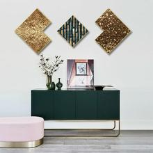 Creative combination Framed painting Triptych Abstract living room bedroom decorative gold irregular Hanging