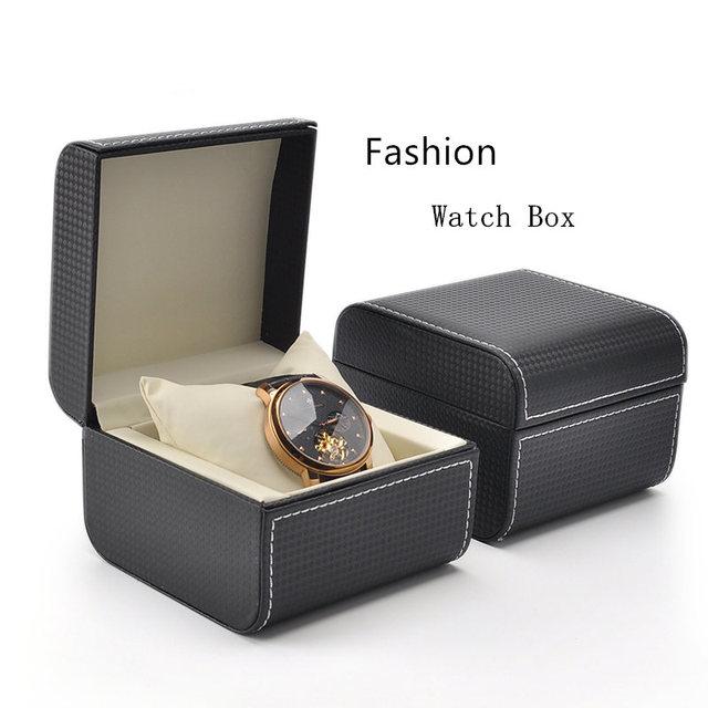 Top Leather Watch Box Black Color Luxury Brand Menu0027s Watch Gift Box Fashion Ladies Personality Watch  sc 1 st  AliExpress.com & Top Leather Watch Box Black Color Luxury Brand Menu0027s Watch Gift Box ...