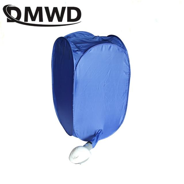 DMWD Mini Portable Garment Dryer Electric Laundry Air Warmer Wardrobe Dehydrator Foldable Baby Clothes Quick Drying Machine Rack 2