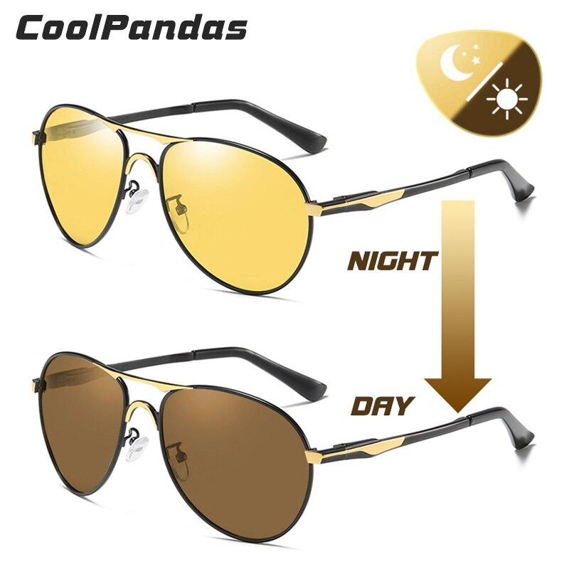 2019 Aviation Car Driver gafas de visión diurna y nocturna gafas de sol fotocromáticas polarizadas antideslumbrantes gafas de sol de conducción gafas de sol