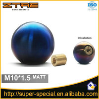 Matt M10 x 1.5 Universal Spherical 5 Speed Manual Car Auto CNC Titanium Shifter Gear Stick Shift Knob for Honda