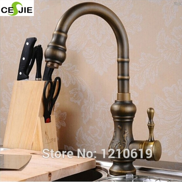 Us Free Shipping Whole And Retail Solid Br Vintage Bathroom Basin Sink Faucet Dark Antique