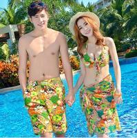 Board Short Couple Swimwear Print Swimsuit Swimming Shorts Women Board Shorts Lovers Men Beach Surf Couple Swimsuits