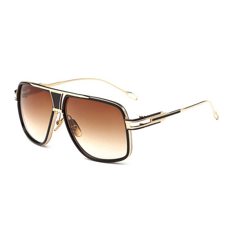 3b1a3f54b29 VISION Square Pilot Sunglasses Men Driving 2016 Male Luxury Brand Sun  Glasses For Men Metal Designer
