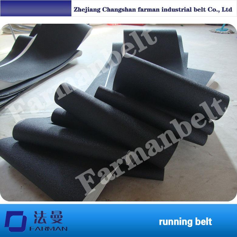 PVC black  treadmill belt