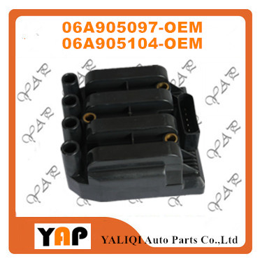 New High Quality Ignition Coil FOR FIT VW Jetta Golf Beetle 2.0L 2.5L L4 06A905097 06A905104 DMB852 20129 2002-2006