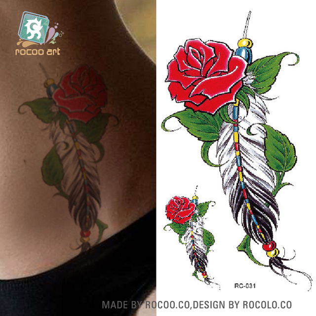 Fashion Temporary Tattoo Stickers Beauty Body Art Design Rose