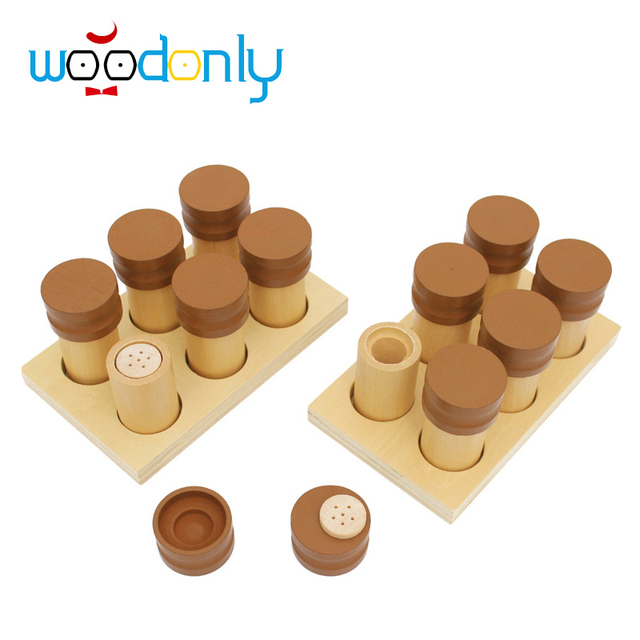 Wooden  Toys for children Montessori Scent Smelling Boxes Toys Education Preschool Training Kids Toys educational toy
