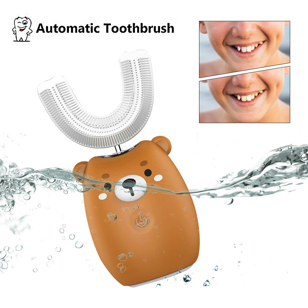 Electric Toothbrush U 360 Degrees U-shaped Sonic Electric Toothbrush Silicon Automatic Teeth Tooth Brush For Baby Children image