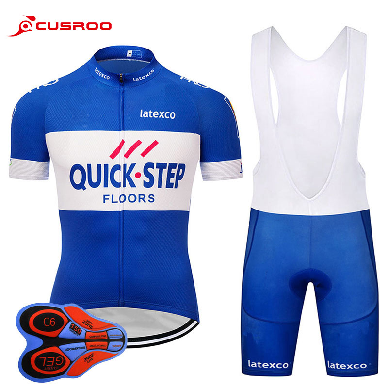 2019 QUICK STEP NEW Cycling Jersey Short SET MTB Cycling Jersey Bike Sets Breathable Bicycle Wear Short Sleeve Jersey 9D GEL