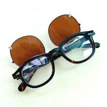 Солнцезащитные очки с клипсой для очков от Jonny Depp, Поляризованные линзы для мужчин и женщин, ацетатные оптические очки, оправа, фирменный дизайн, с коробкой, Sq005