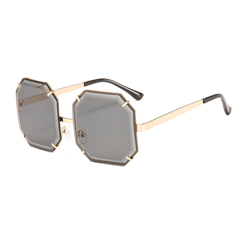 c08f3acfc893 Mincl Fashion irregular women sunglasses trend wide face polygon men s  sunscreen glasses personalized decorative sunglasses