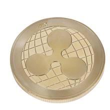 La pièce XRP de collection ronde commémorative Ripple est plaquée or, monnaie numérique