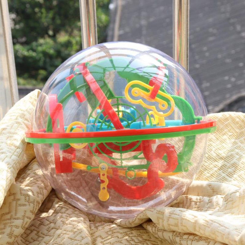 3D Puzzle Magic Maze Ball Educational Balance Game 3D Stereo Magic Bead Education Children's Toys Gifts