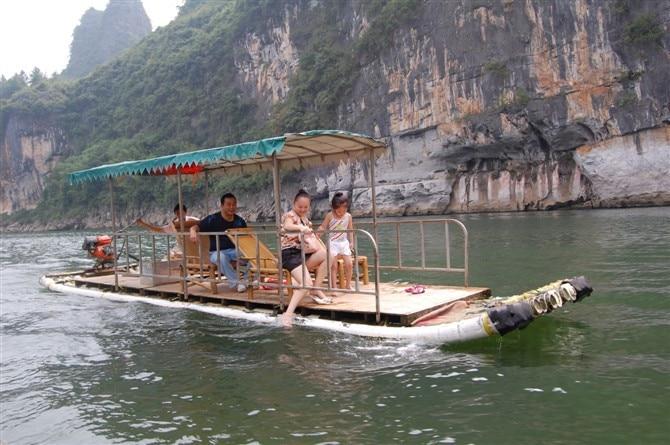 Guilin Bamboo Raft Boat On The Li River On Aliexpress Com