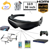 New FPV 3D video glasses 2 meters distance 98 inches virtual display large screen Support IOS and Android HD input 1080P