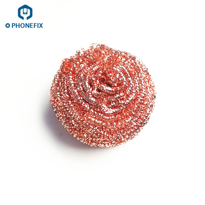 PHONEFIX Solder Iron Tip Cleaning Wire Scrubber Welding Heads Wire Sponge Ball Hot Air Gun Nozzle Cleaner Kitchen Cleaning Tool PHONEFIX Solder Iron Tip Cleaning Wire Scrubber Welding Heads Wire Sponge Ball Hot Air Gun Nozzle Cleaner Kitchen Cleaning Tool