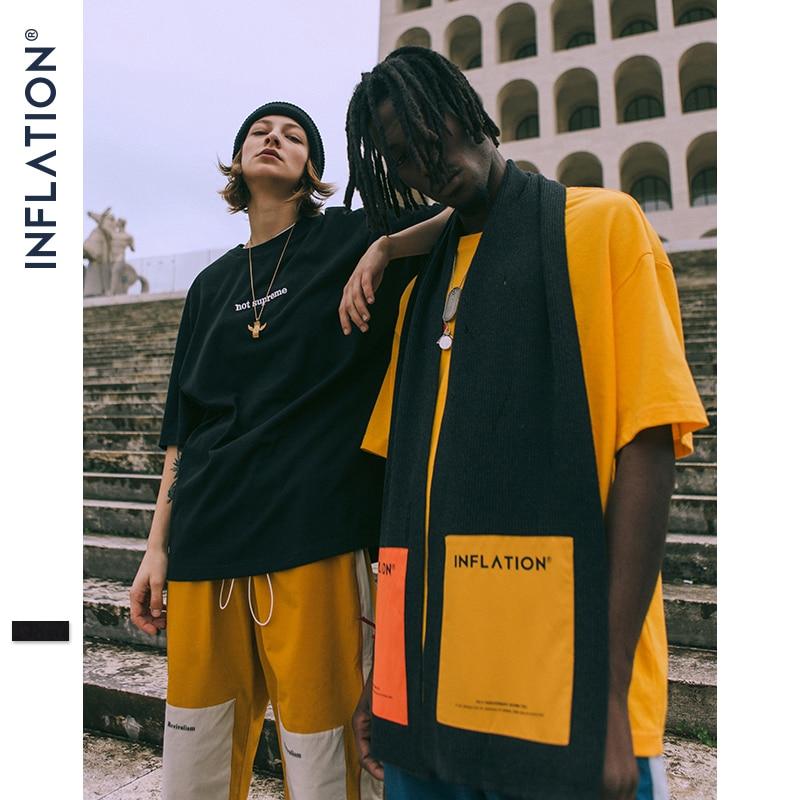 Инфляция 4th юбилей шарф Цвет Блок шелковый шарф уличная хип-хоп шерстяной шарф 180 см Высокое качество пара шарф 360SF2018