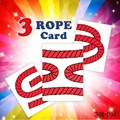 3 Cuerda Truco de Cartas (JUMBO)-trucos de magia, Ilusión, truco, props, accesorios, comedia, mentalismo