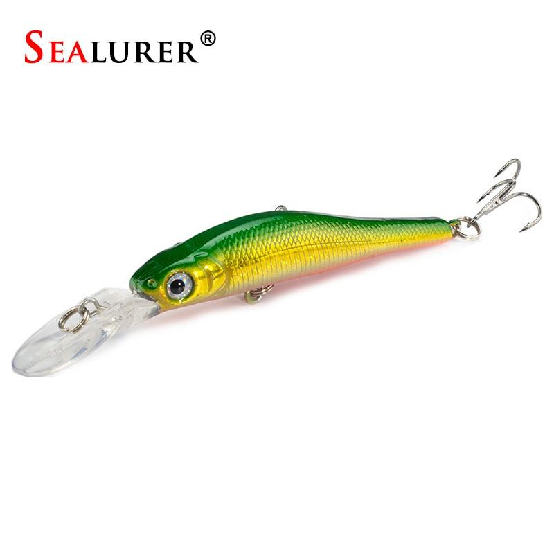 Tipo flotante Aparejos De Pesca Minnow Pesca de Señuelo 9 cm/6.5g Duro Cebo de P