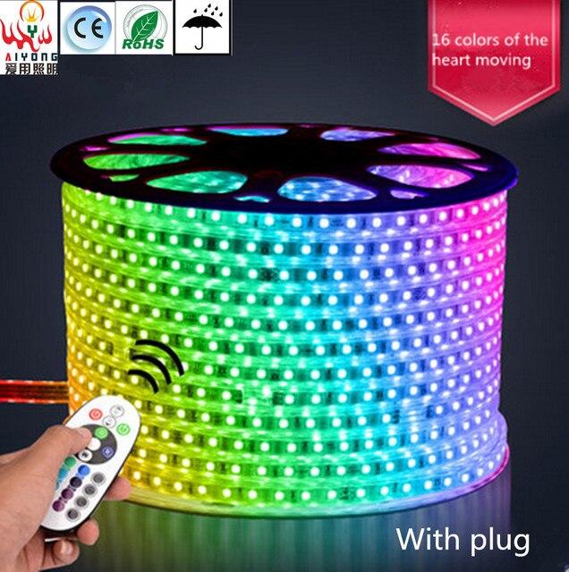 RGB LED Streifen Licht 5050 Bunte Fernbedienung Farbe Lampe Mit Hoher Helligkeit Proof Wohnzimmer Decke