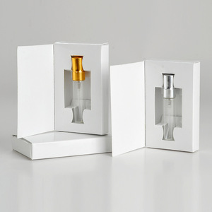 Image 3 - 100 Pieces/Lot 5ML Customizable Paper Boxes And Glass Perfume Bottle With Atomizer Empty Parfum Packaging CUSTOM LOGO for gift