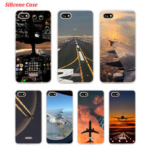 Silicone Phone Case Aircraft on air for Xiaomi Redmi S2 Note 4 4X 5 5Pro 5A Plus 6 6A 7 Pro Cover