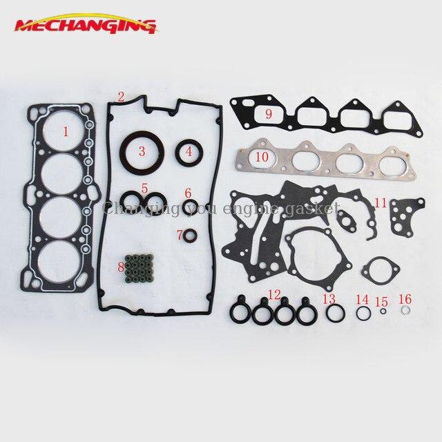 US $40 85 5% OFF|G4CP FOR HYUNDAI SONATA III (Y 3) 2 0 i Engine Rebuilding  Kits Automotive Spare Parts Engine Gasket 20910 33B10 50173300 on