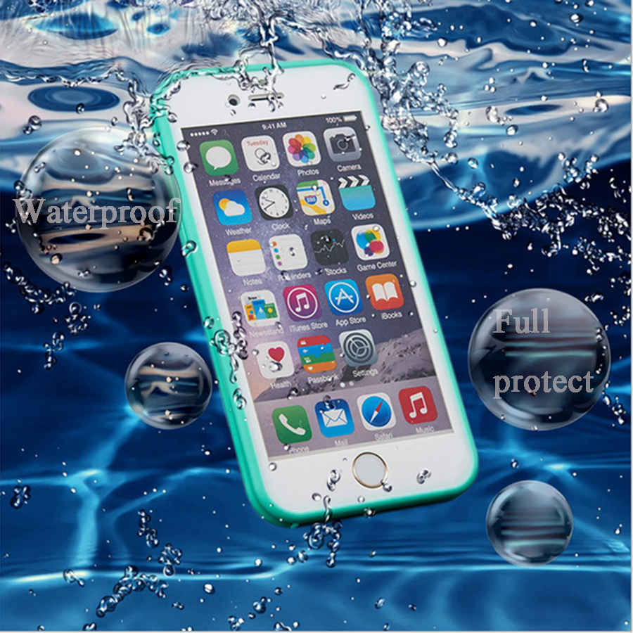 For Coque Iphone 5s Case Iphone5 6 6s 7 Waterproof Cases 4.7 5.5 Inch For Iphone 7 7plus Full Body Silicone Protection Cover