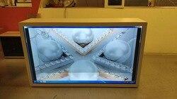 Quiosco de pantalla interactiva lcd transparente para publicidad en centro comercial de 43 pulgadas con Windows o sistema operativo Android