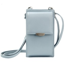 все цены на PU Leather Cell Phone Wallet Credit Card Holders Long Wallet Purse for Women Casual Ladies Flap Shoulder Bag Crossbody Bags онлайн