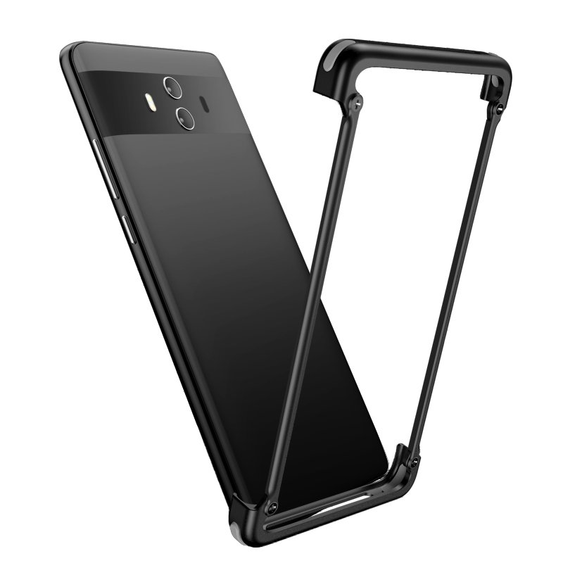 OATSBASF Airbag Metal Case For Huawei Mate 10 Pro Case Personality Airbag Shell for Huawei Mate 10 Case lite Metal Bumper Cover