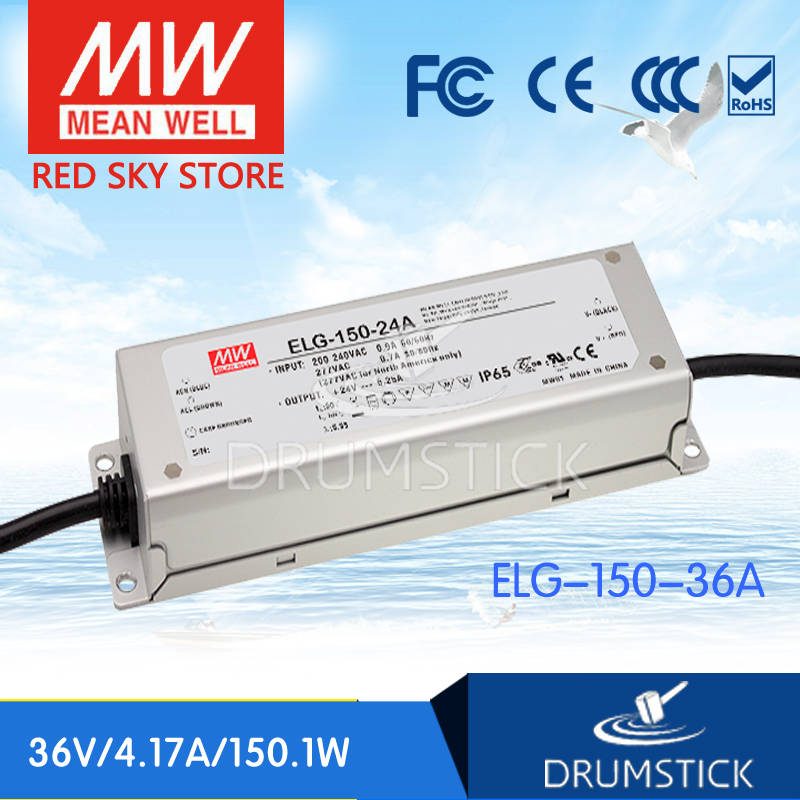 цена на (Only 11.11)MEAN WELL ELG-150-36A-3Y (2Pcs) 36V 4.17A meanwell ELG-150 36V 150.1W Single Output LED Driver Power Supply A type