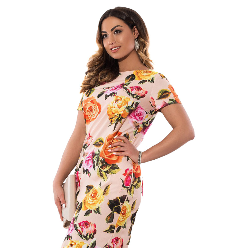 HTB1LtrRXcPEK1JjSZFEq6yA3XXaM 2019 Autumn Plus Size Dress Europe Female Fashion Printing Large Sizes Pencil Midi Dress Women's Big Size Clothing 6XL Vestidos
