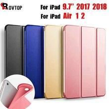 Rovtop Чехол для iPad 9,7 Air 2 Air 1 Pro 10,5 чехол силиконовый мягкий кожаный смарт-чехол для поколения Funda