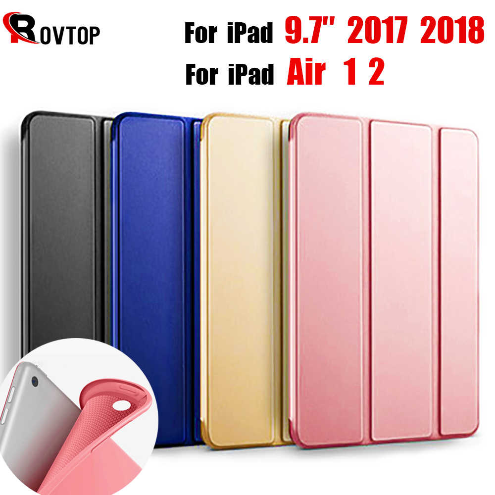 Rovtop Case Cover Voor iPad 9.7 Air 2 Air 1 Pro 10.5 Case Silicone Soft Leather Smart Case Cover voor 2017 2018 Generatie Funda
