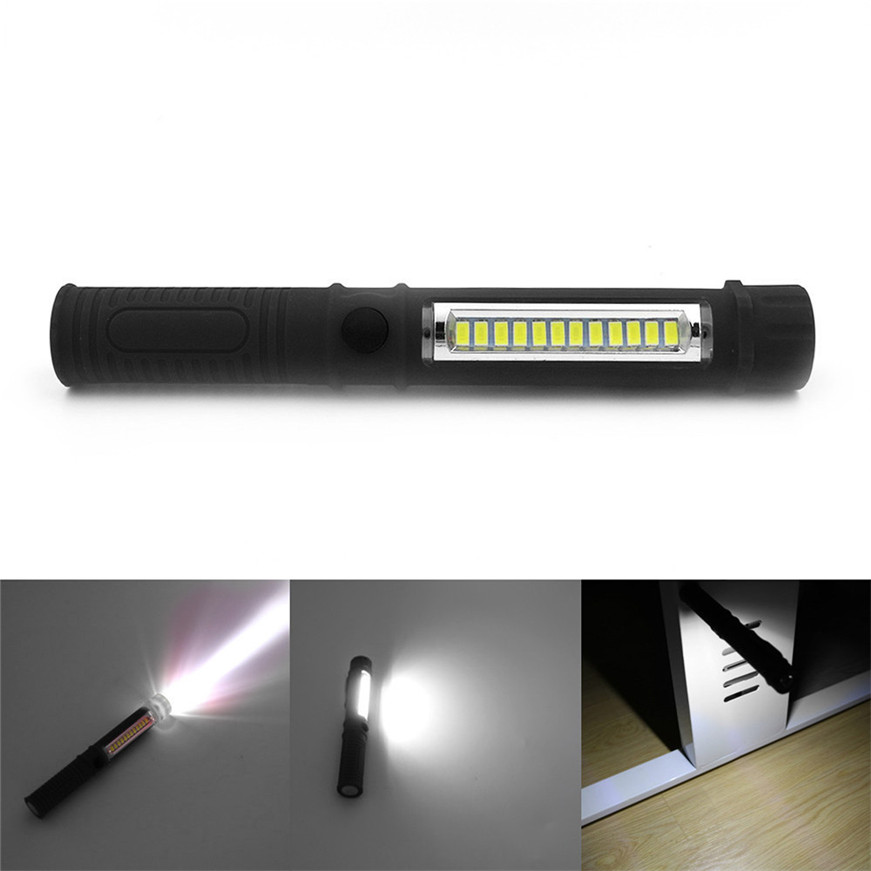 2018 New Multifunction Portable COB Lamp Work Light Lamp Flashlight Torch W/Magnetic Hot