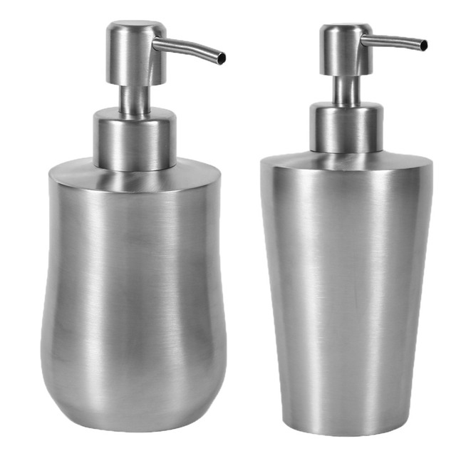 Stainless Steel Bathroom Soap Dispenser. 1pc Liquid Soap Dispenser Bathroom Soap Container Shower Pump Lotion 304 Stainless Steel Dispenser Liquid Bottle