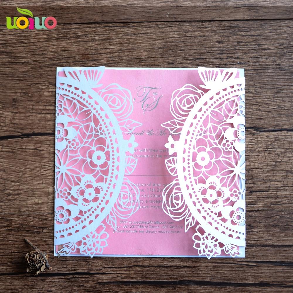 Milk White Interlocking Hearts Design Wedding Invitation Card bulk ...