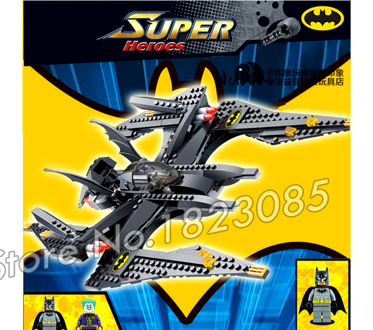 336pcs Super Heroes Batman Movie Batwing Battle Jokers Aerial Assault 7112 Model Building Blocks Toy Brick Compatible With lego