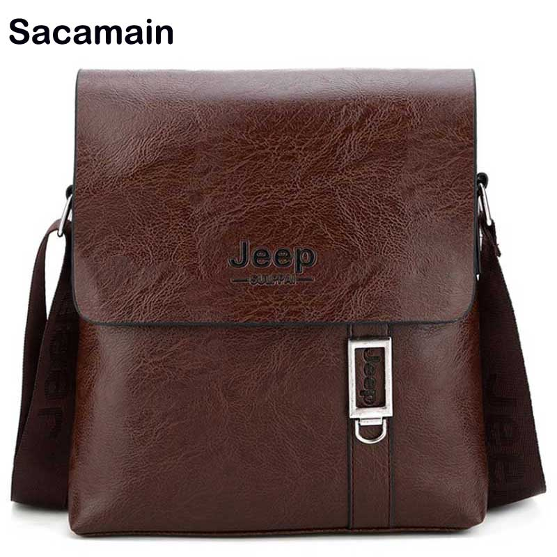 Messenger Bag Men Leather Shoulder Male Jeep Bag Soft Crossbody Bags Document Business Leisure Use Small Bag For Man Trend 2018 jason tutu promotions men shoulder bags leisure travel black small bag crossbody messenger bag men leather high quality b206