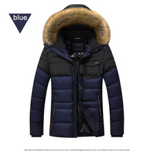 Hot sale Thickening Winter Jacket Men Brand-Clothing Casual Outerwear Parka Coats Warm Down Jacket Fur Collar Zipper Garment