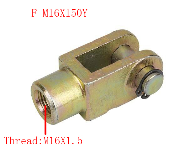 Free shipping 2 pcs Y Joint M16x1.5mm Female to Male Thread Pneumatic Cylinder Piston Clevis,F-M16X150Y 38mm cylinder barrel piston kit