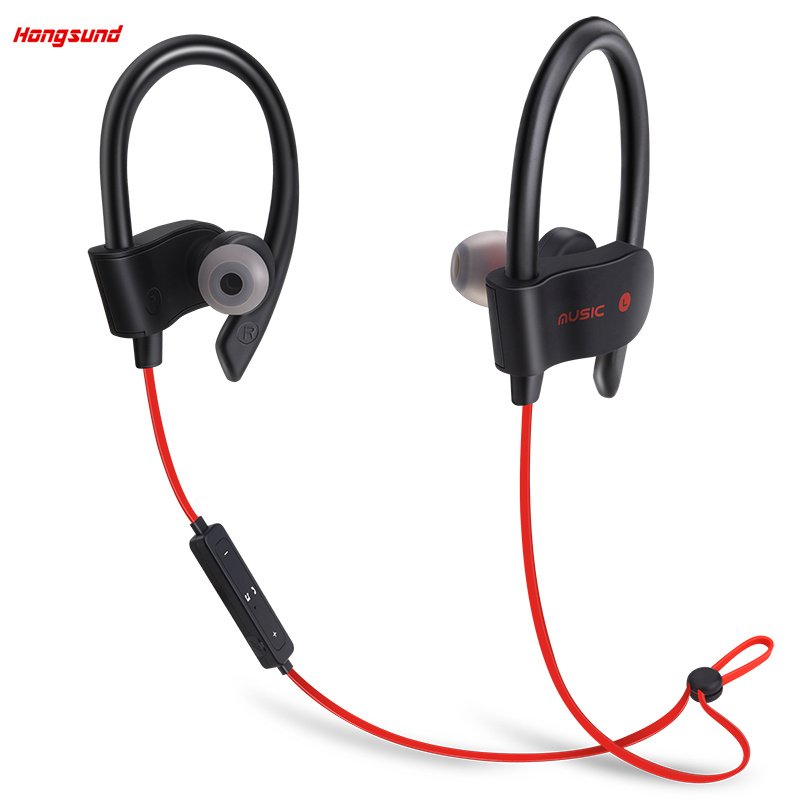 Hongsund 56S Sports In-Ear Wireless Bluetooth Earphone Stereo Earbuds Headset Bass Earphones with Mic for iPhone 6 Samsung Phone