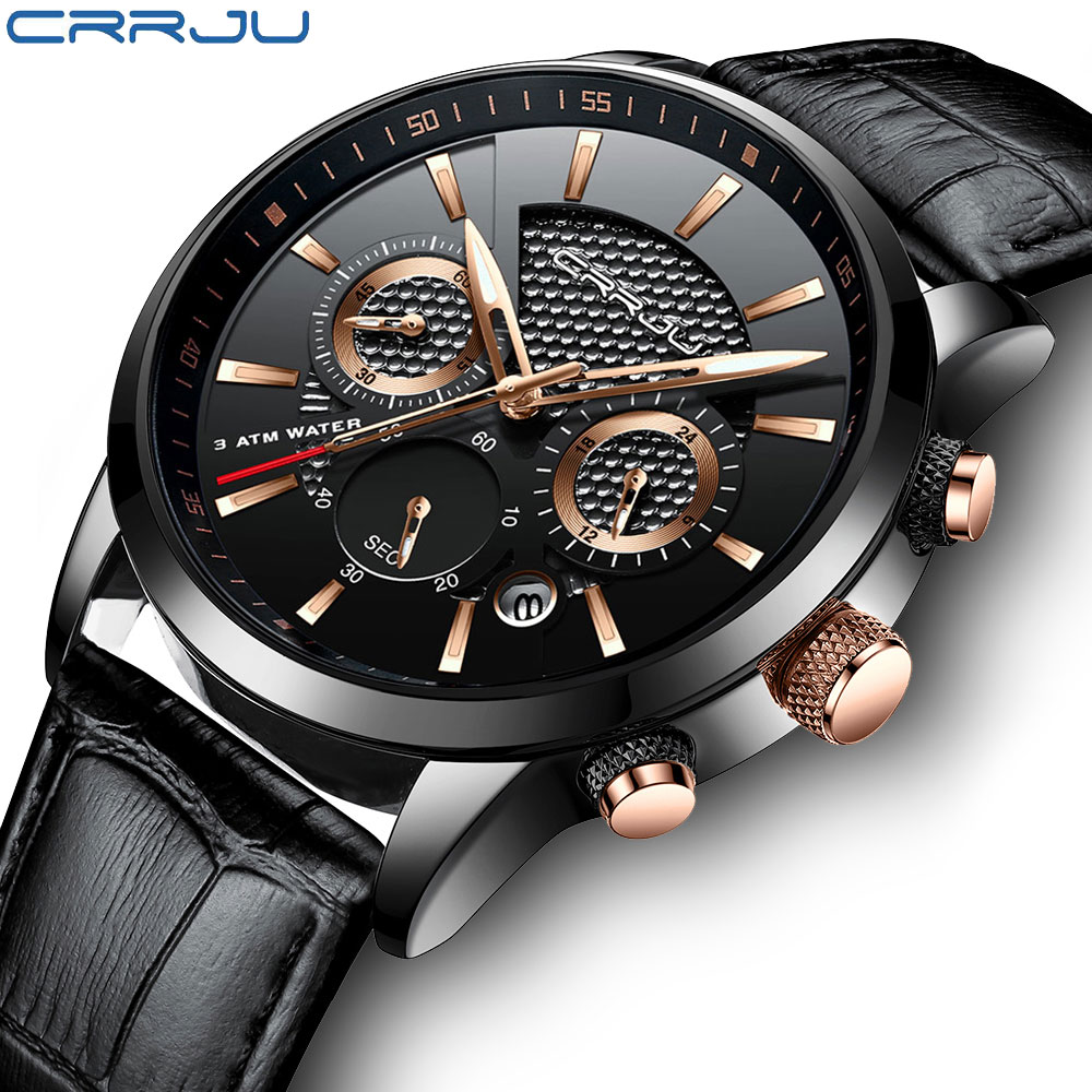 где купить Fashion Quartz Wrist Watch Men Chronograph Leather Top Luxury Military Wristwatches Waterproof Sports Watches Relogio Masculino дешево
