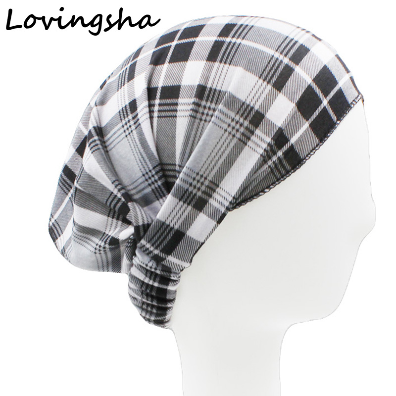 LOVINGSHA Plaid Women Stretchy Wide Hairband Headband Turban   Headwear   Elastic Women Hair Accessories Twisted Knotted FD085