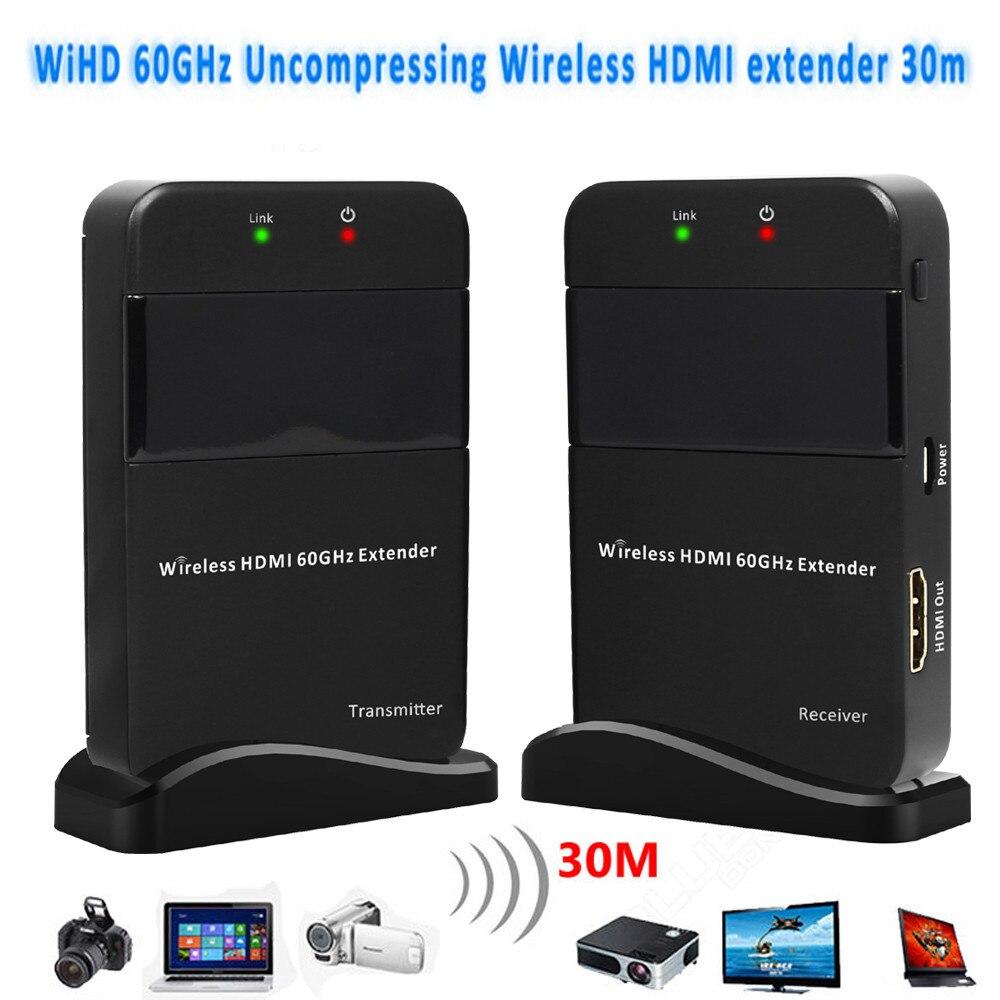 HD видео/аудио система передачи сигнала HDMI 1,4 3D беспроводной HDMI удлинитель 30 м/98ft Full HD 1080P HDMI передатчик приемник